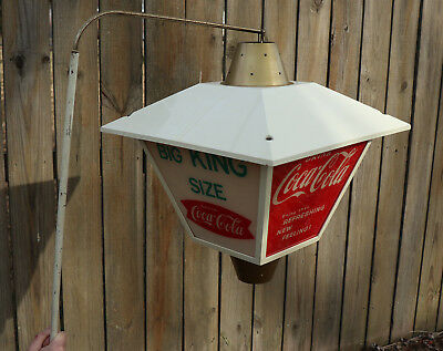 "1950s 18""  Turning COCA COLA LANTERN  Lighted  Sign"