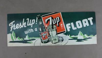 2001 7UP FLoat Metal Sign     Soda Pop  Ice Cream                  7 UP seven up