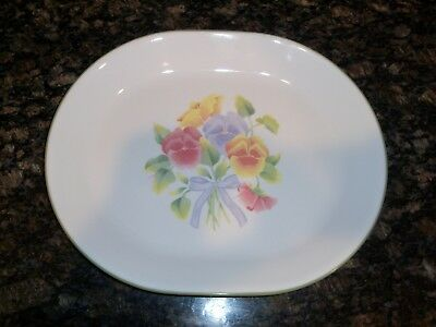 Corelle Corning Ware Summer Blush Large Oval Meat Serving Platter Cookie Plate