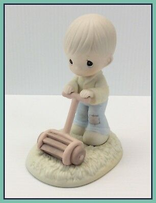 1989 Vintage Precious Moments MOW POWER TO YA Special Edition Club Figure PM-892