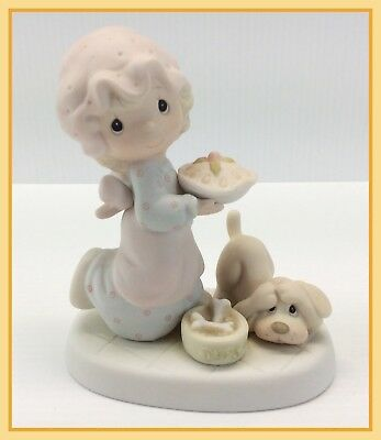 1982 Vintage Precious Moments DROPPING OVER FOR CHRISTMAS Figurine E-2375 NO BOX