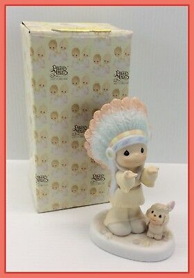 1996 Vintage Precious Moments THE LORD IS OUR CHIEF INSPIRATION EXCLUSIVE 204862