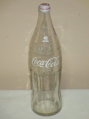 Coca Cola Canada 40 Oz Bottle With Twist Off Cap Painted Label