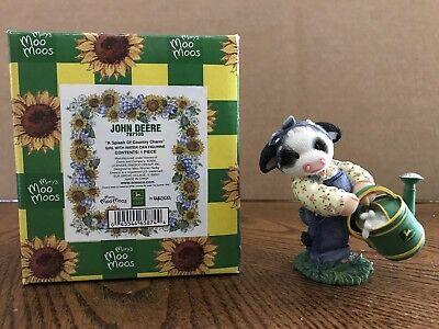 "Enesco Mary's Moo Moos John Deere ""A Splash Of Country Charm"" Water Can  787108"