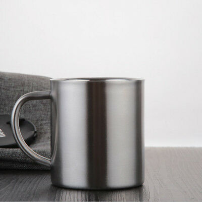 Stainless Steel Beer Mug Coffee Cup Tea Double Wall Camping Drinking Cup