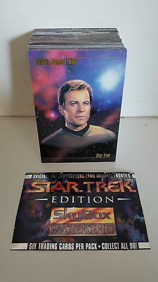 1993 Skybox Star Trek Master Series 1 Trading Card Set (90 cards)