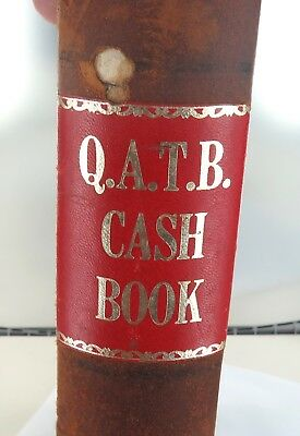 .super Rare  Vintage Q.a.t.b. Qld Ambulance Huge Leather Bound Cash Book, Unused