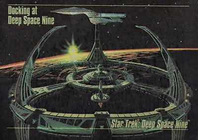 1993 Skybox Star Trek Master Series Spectra card S-1 Docking at DS9