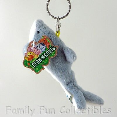 BEAN SPROUTS~1990s GAF Gift Innovations~Keychain~Dash Dolphin~Bean Bag Doll~NEW