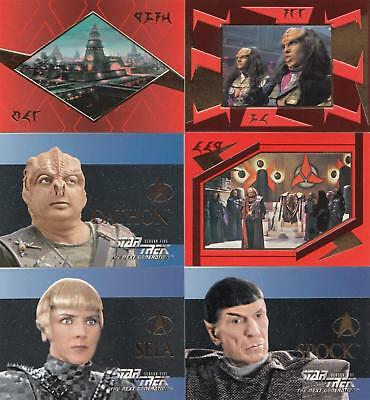 Star Trek TNG The Next Generation Season 5 chase set S25-S30 NM/M condition