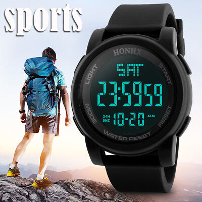 Fashion Men's LED Camping Out Digital Quartz Military Luxury Sport Date Watch US