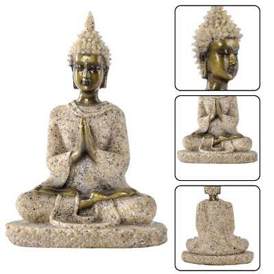 Meditative Seated Buddha Statue Sandstone Decor Figurine Furnishing Article Hot