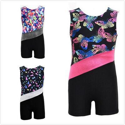 Kids Baby Girls Gymnastics Leotard Bodysuit Romper Party Dance Custume Dancewear
