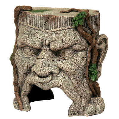 Ancient Stone Head Greek Ruins Aquarium Fish Tank Hide Ornament Decoration Decor