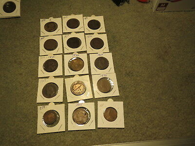 15 x coins Collectors Coins 1800s,number 1