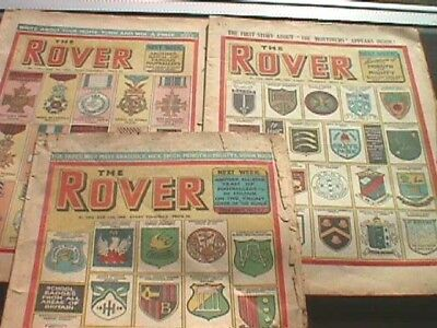 The Rover Comic - 4 Issues from 1953 & 1 from 1954