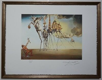 Salvador Dali 'The temptation of St. Anthony' Signed Lithograph Lim. 2000 pcs.