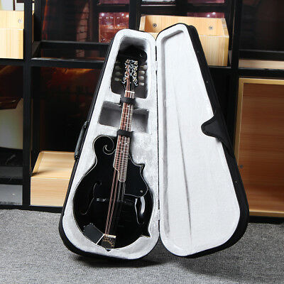 Basswood Mandolin F-Style 8 String 24 Fret Acoustic Musical Instrument w/Case 1M