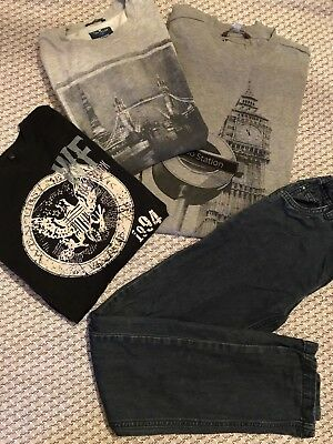 LOT N° 5 VETEMENTS GARCON 14 ANS HIVER ETE : T Shirt SWEAT PULL Jean TOM TAYLOR