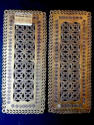 Antique Victorian Solid Brass Push Plates Celtic Knot