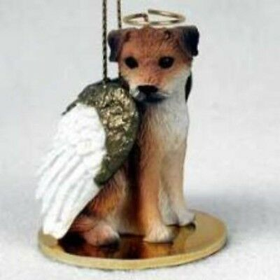 Small Angel BORDER TERRIER Christmas Angel Tree Ornament