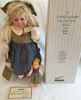 "Rare SEYMOUR MANN CONNOISSEUR COLLECTION DOLL "" ELLIE MAY "" Limited Edition COA"