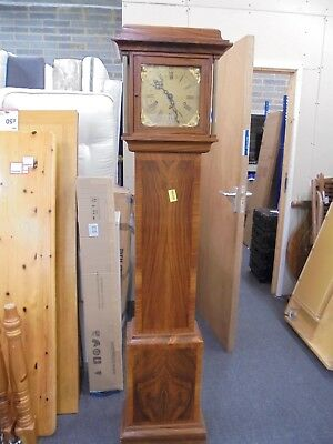 Vintage Grandfather Tall Clock Gold Cherub Solid Walnut Wood Reproduction - E26
