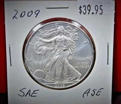 2009 Silver American Eagle BU 1 oz Coin US $1 Dollar Uncirculated from PCGS Tube