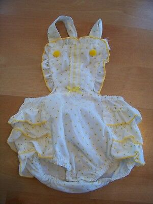 VTG Rare TODDLER Floral RUFFLE Romper 24 Months AMAZING!!