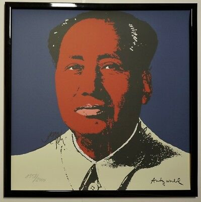 C - Mao Zedong Marilyn Monroe Signed Lithograph - Limited 1958 of 2400 pcs.