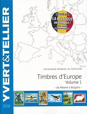 Catalogue des Timbres d'Europe Volume 1 Yvert et Tellier Ed. 2018