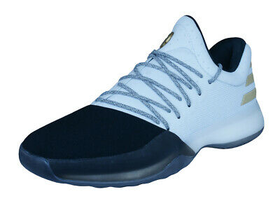 f202bbd0804 adidas Harden Vol 1 Mens Basketball Trainers Court Fashion Shoes White Black