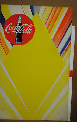 4 VINTAGE COCA COLA HEAVY CARDBOARD SIGNS 1960s  FOOTBALL EMPLOYEE CAROLINE HS