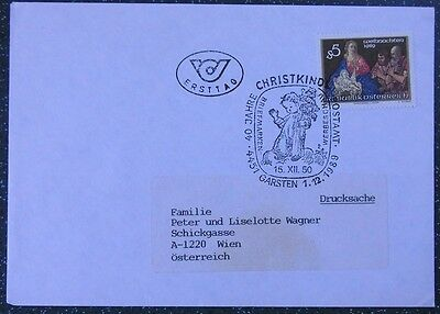 Brief FDC Garsten 1989 Advent Weihnachten 40 Jahre Postamt Christkindl