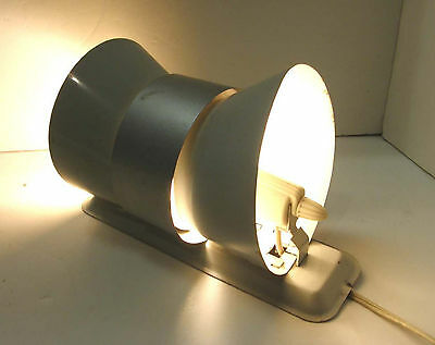 Vintage Atomic Mcm Metal Wall Sconce Light Lamp Bow Tie Double Cone