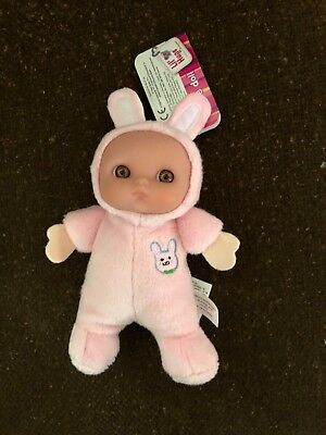 JC Toys Berenguer Lil Hugs Soft Rattle Pink Bunny Doll, 5'' Soft Plush New