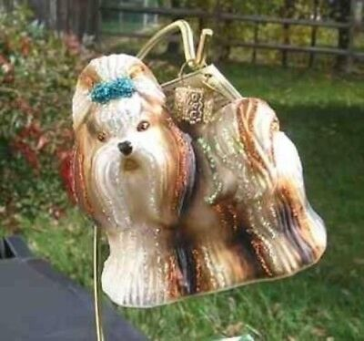 Old World Christmas SHIH TZU Blown Glass Tree Ornament
