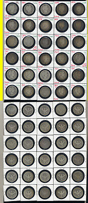 Lot Of 30 Barber Quarters- Includes Early Dates- No Reserve