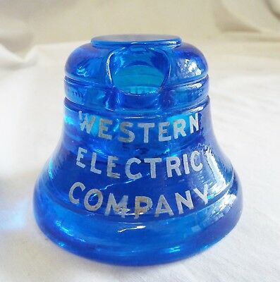 Old WESTERN ELECTRIC CO TELEPHONE Advertising INKWELL PEN HOLDER Paperweight