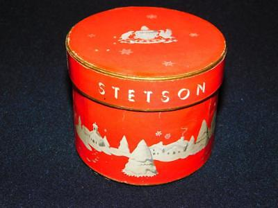Vintage STETSON Salesman Sample Mini HAT BOX  Doll Sized Miniature RED