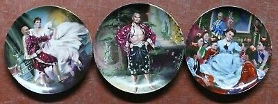THE KING AND I SERIES  by WILLIAM CHAMBERS <> SET OF THREE PLATES