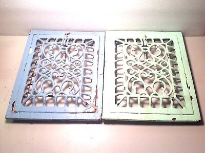 Antique Cast Iron Wall Furnace Register Grates Vent Hardware