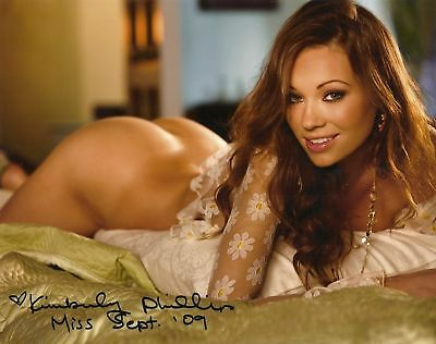 Kimberly Phillips 09/2009 Playboy Playmate Sexy Signed Photo  (B)