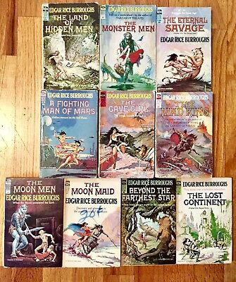 LOT OF 10 VINTAGE ACE SHORTS PB's by Edgar Rice Burroughs Frazetta, Krenkel art