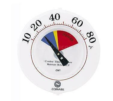 """Comark CWT 6"""" Cooler Wall Thermometer w/Mounting Bracket"""