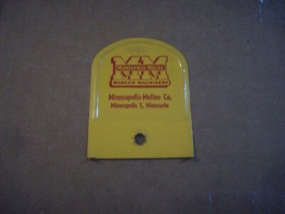 Vintage  Minneapolis Moline Broom Holder Backplate