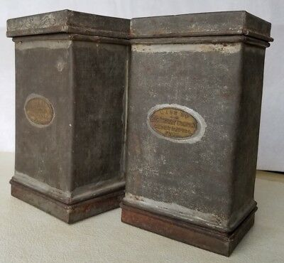 Pair of Antique J.G. Cherry Company Tin Ice Cream Molds or Jelly Molds
