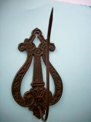 Antique Deco Victorian Cast METAL Spike Paper Letter Receipt Wall HOOK