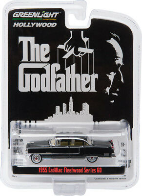 Greenlight 44740-B 1955 Cadillac Fleetwood Series 60 1:64 Scale The Godfather