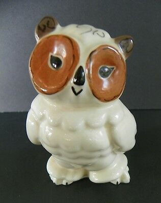 Kay Finch Tootsie The Owl Figurine California Pottery Cream & Brown